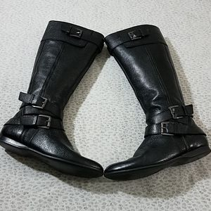 Enzo Benziolini Belt Buckled Black Leather Boots